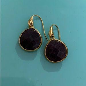 Stella and Dot lapis stone earrings